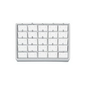 Stackable Showcase Tray Earring 25-Pad White