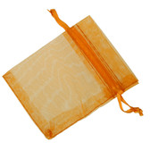 100 Organza Jewelry Bag Gift Pouch Orange 2X3.25""