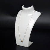 "Acrylic Necklace + Earring Set Display 8.5""H White"