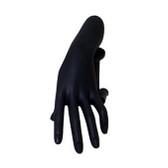 Hand Pedestal Form Ring Bracelet Display Set Black