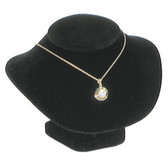 "Padded Neck Bust Necklace Low Profile Display 4.5""H Black Velvet"