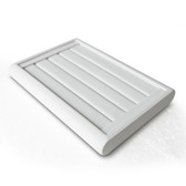 Ring Display Tray 4 Slot White Leather
