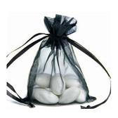 "100 Organza Jewelry Bag Gift Pouch Black 6x8"""