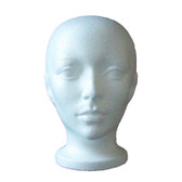 Female Styrofoam Head Form Wig Hat Display Manikin