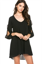 Black Brittney Swing Dress