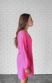 Hot Pink Brittney Swing Dress