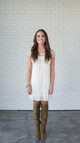 Bohemian Ivory Crochet Dress