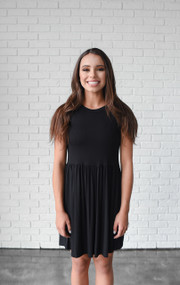 Black Crewneck Dress