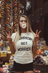 Warrior Not Worrier Boyfriend Tee