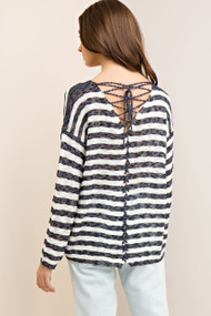 The Macy Lace Up Sweater