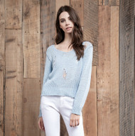 J.O.A Light Blue Sweater