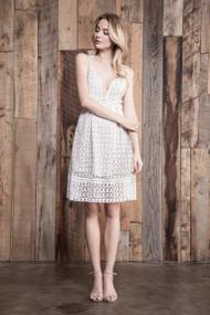 J.O.A Crochet White Lace Dress