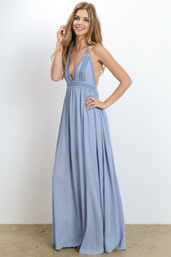 The Victoria Maxi Dress- Blue