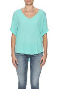 The Charlotte Aruba Blue V Neck Top