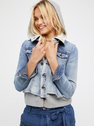 Free People Double Weave Denim Jacket