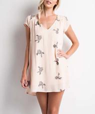 The Stella Floral Dress- Blush