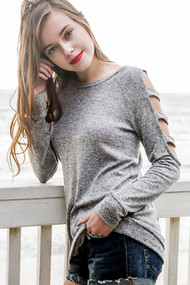 The Kenzie Grey Top