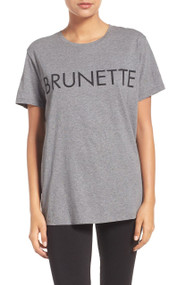 "The ""Ryan"" Brunette  Crew Neck Tee 