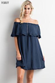 The Paige Dress- Navy Blue