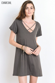 The Julie Dress- Charcoal
