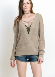 The Kara Knit Top-Latte