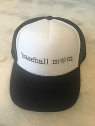 Mother Trucker- Baseball Mom Navy/White