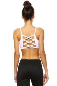 The Emersyn Sport Bra- White