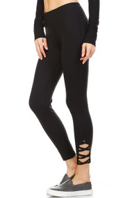 The Amber Leggings with Strappy Criss Cross Cutouts