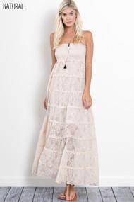 The Amelia Dress-  Natural