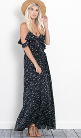 The Morgan Maxi Dress-Navy