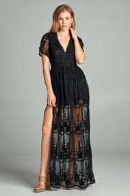 The Zoey Lace Maxi Dress