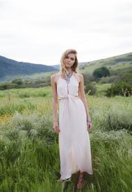 The Pearl Dress- Light Blush