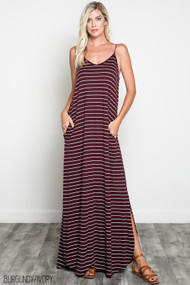 The Alyssa Dress- Burgundy