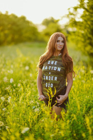 One Nation Under God Camo Tee