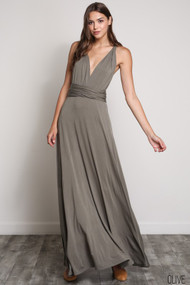 The Bridgette Dress-Olive
