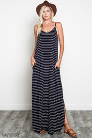 The Alyssa Dress- Navy