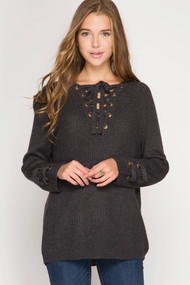 The Cheyanne Sweater- Charcoal