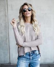 The Sadie Sweater- Mauve