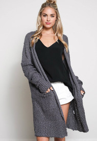 The Camilla Cardigan- Charcoal