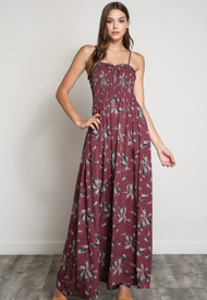 The Scarlett Maxi Dress- Red Bean