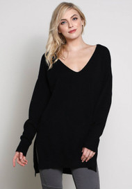 The Lucca Sweater- Black