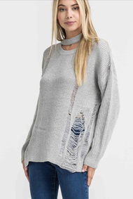 The Adrianna Sweater- Grey