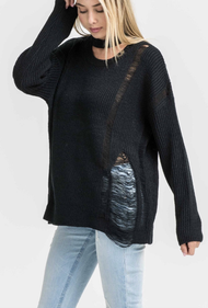 The Adrianna Sweater- Black