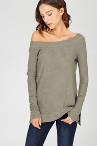 The Kennedy Top- Olive