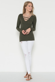 The Leah Top-Olive