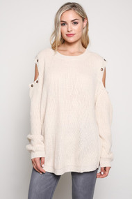 The Adeline Sweater-Ivory