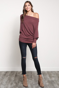 The Eliza Top- Red Bean