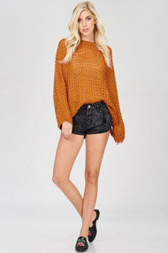 The Calista Sweater- Copper