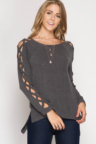 The Mariana Top-Charcoal