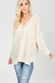 The Gracie Sweater- Cream